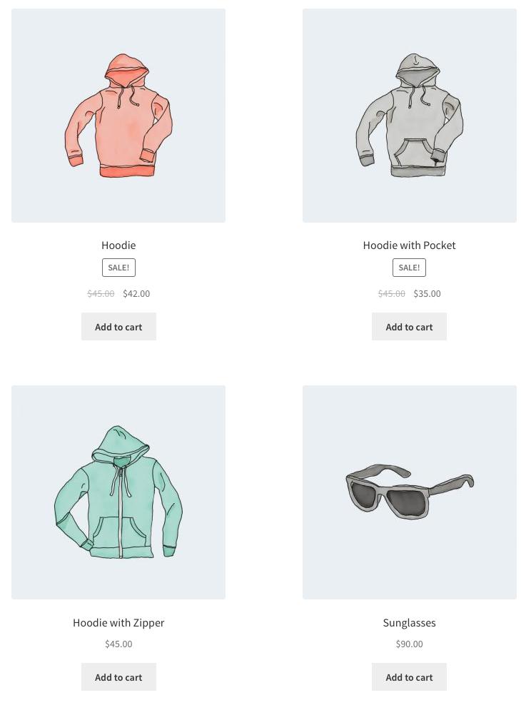 Código corto de WooCommerce Productos destacados