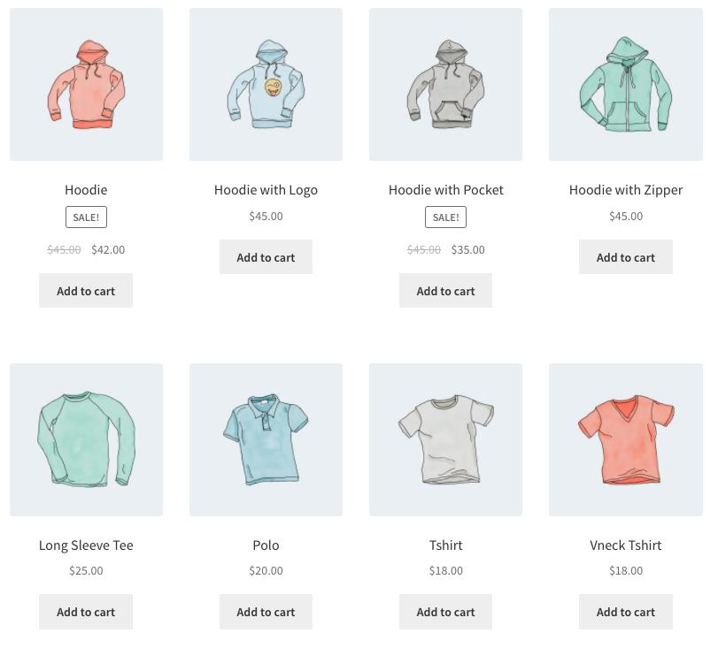 Código corto de WooCommerce Productos por categoría