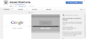 extension chrome Instant Wireframe