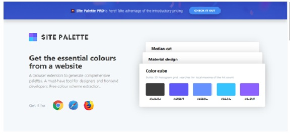 extensiones chrome Site Palette