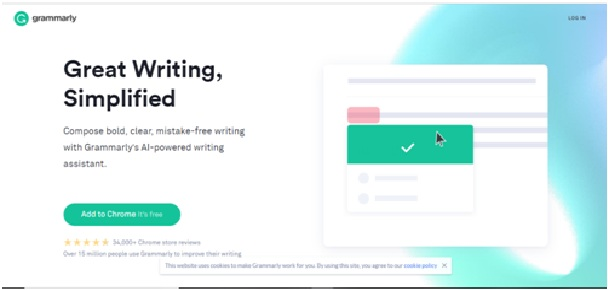 Extension Grammarly para Chrome