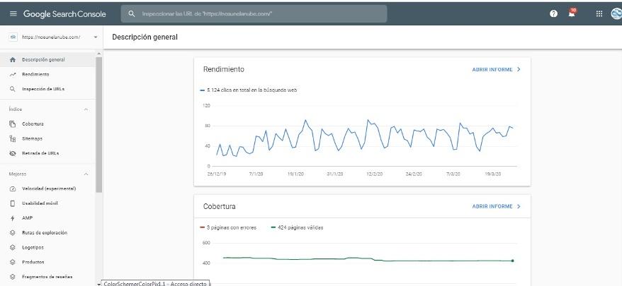 herramienta google search console