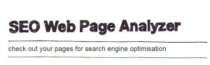 seo page analyzer
