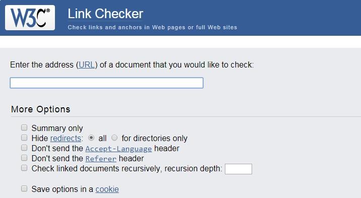 enlaces rotos w3c link checker