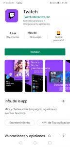 Aplicación en Google Play