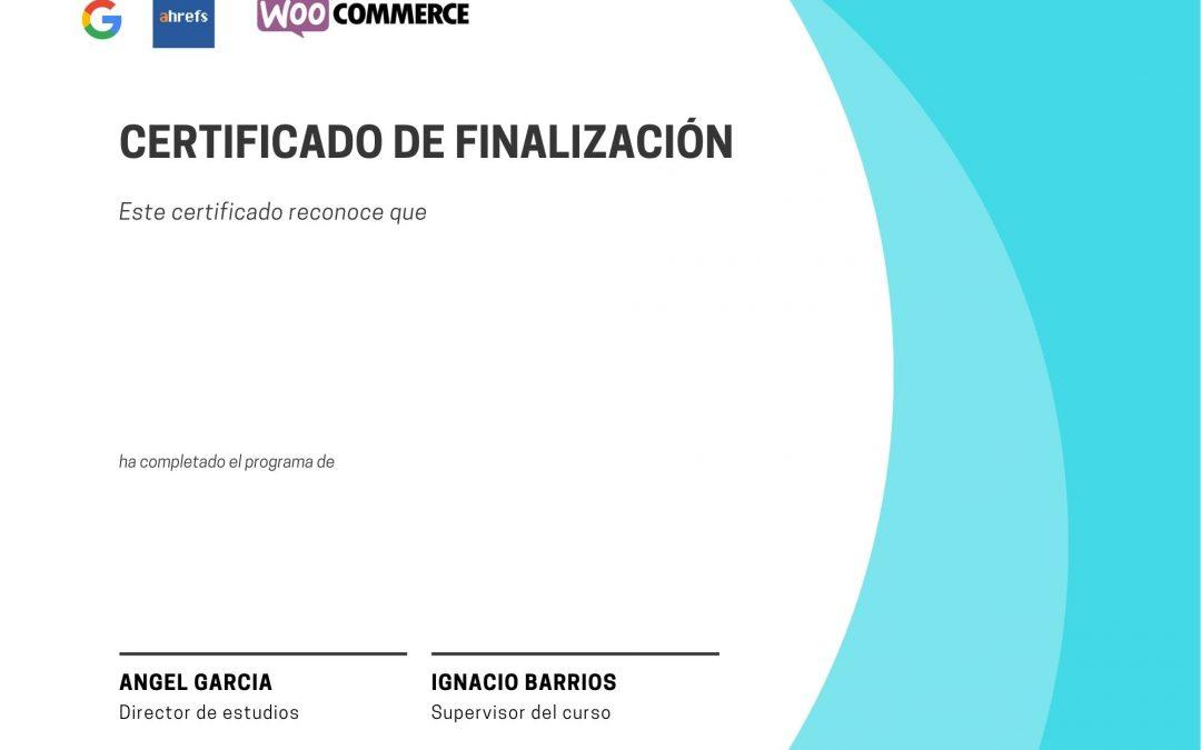 certificado SEO emprendedores